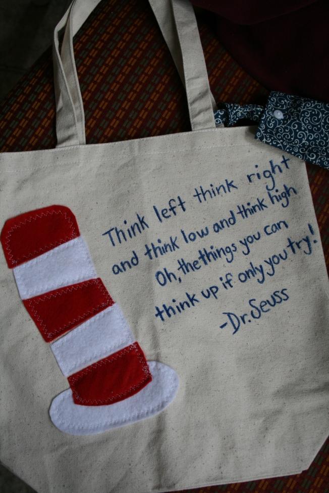 Dr. Suess library tote