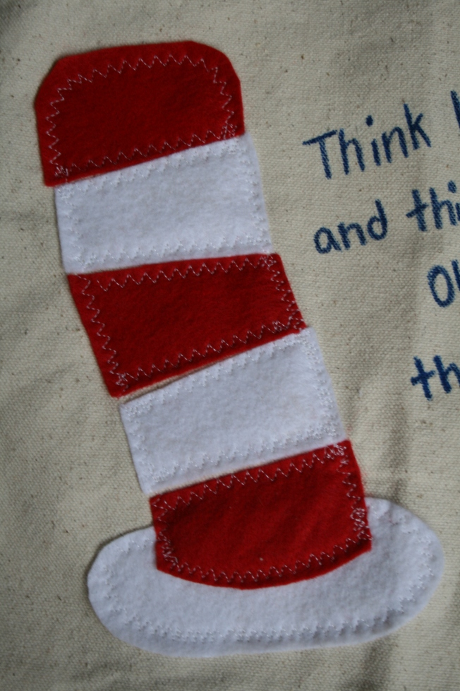Dr. Suess bag closeup